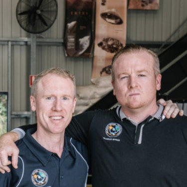 Gilmour Space Technologies CEO Adam Gilmour, left, with brother and company director James, said the company has plans to add another thousand space industry jobs over the next few years.