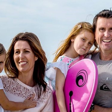 Dan Purdie with his wife Andrea and daughters Emelia and Chloe.
