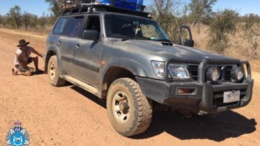 The couple are travelling in a Nissan Patrol.