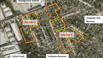 Plans for higher-density development at Showground station hub knocked back