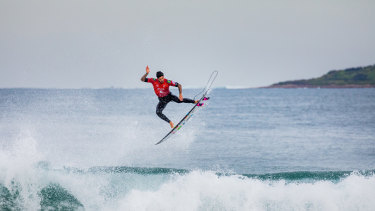 Two-time WSL Champion Gabriel Medina of Brazil winning the final of the Rip Curl Narrabeen Classic.