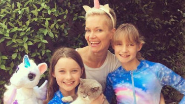 Jessica Rowe with her two daughters.