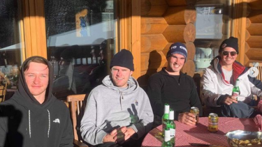 John Agnew, Tom Schofield, Edward Renton and Tom Tilley in Aspen.