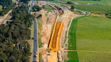 Human remains have been found during work on the Princes Highway at Colac.