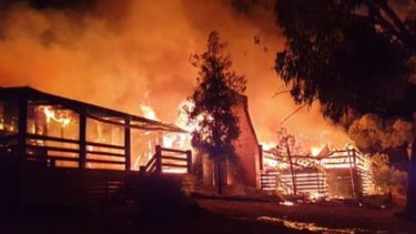 Fire at theWarrenmang Winery and Resort
