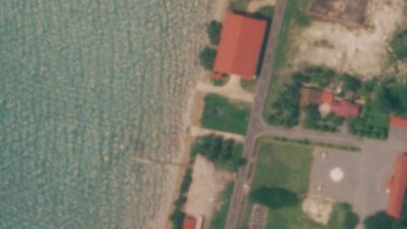 The US-funded facility (top) at Cambodia's Ream Naval Base has now also been demolished.