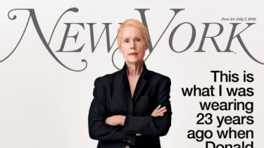Accuser E. Jean Carroll on the cover New York magazine.