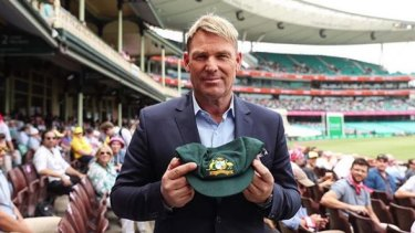 Shane Warne and his cap.