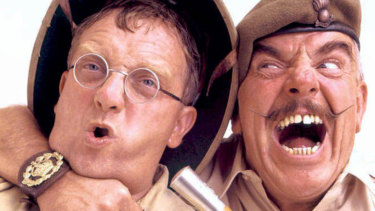 Ain't Half Hot Mum' starring Windsor Davies (right) and Don Estelle.
