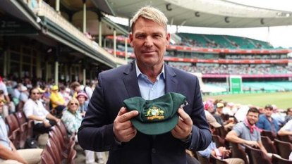 Warne's baggy green cap sold for more than $1 million