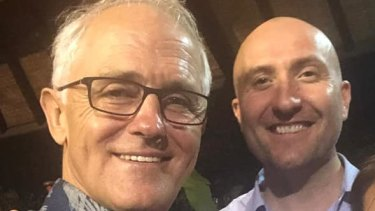 Former prime minister Malcolm Turnbull pictured with businessman Nigel Grier.