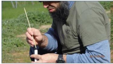 Haisem Zahab tested hobby rockets on his rural property.