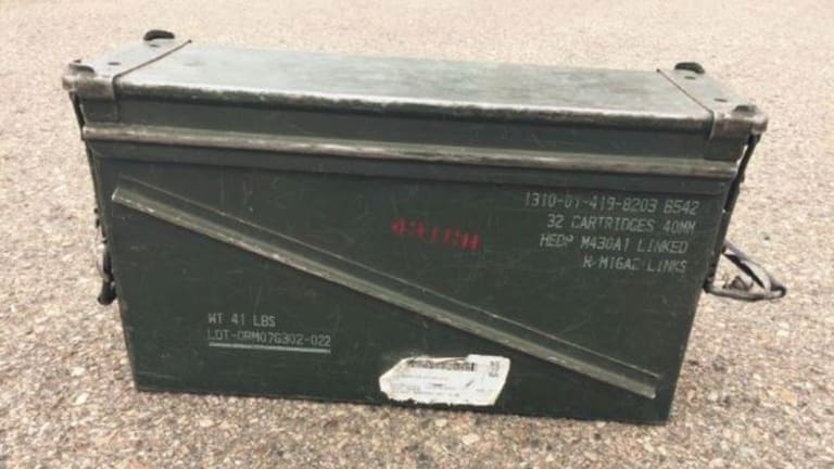 Missing: a box of explosive explosive ammunition.
