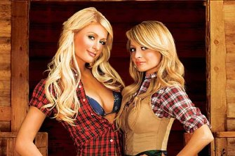 Paris Hilton, left, and Nicole Richie in reality show The Simple Life.