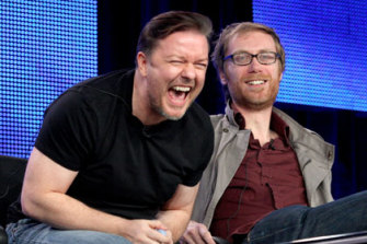 The Office co-creators Ricky Gervais and Stephen Merchant.