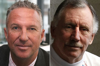 Long time rivals ... Ian Botham and Ian Chappell.