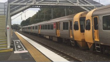 Lindum Train Station where Brisbane City Council and the Queensland Government disagree about plans to improve the rail crossing.