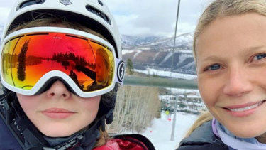 The post which saw Gwyneth Paltrow's teen   daughter object to her mother's decision to post it.