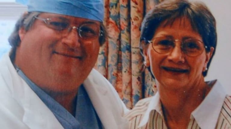 Darlene Coker with her thoracic surgeon David Sugarbaker.