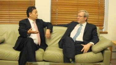 Kevin Rudd meeting with Chau Chak Wing.