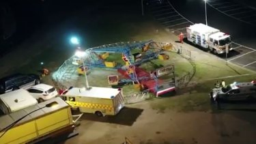 An aerial view of the ride at the Rye Carnival.