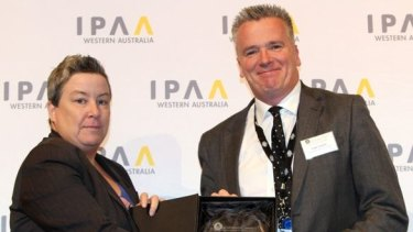 "Department of Communities chief financial officer Liam Carren receives an an IPPA award recognising him as the ""finance practitioner of the year""."