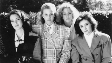 Winona Ryder, left, and her fellow Heathers.