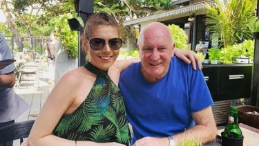 Ashleigh Petrie and her fiancee magistrate Rodney Higgins.