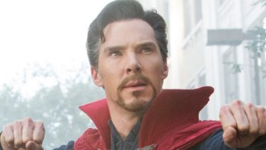 Actor  Benedict Cumberbatch, here as Marvel's  Dr Strange, has been hailed a real-life superhero