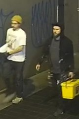 Police are seeking assistance from two men captured on CCTV.