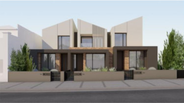 Three townhouses proposed to replace the house that now stands at 81 Charles Street, Ascot Vale.
