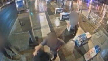 The CitySafe network captured footage of a man being punched in the face.