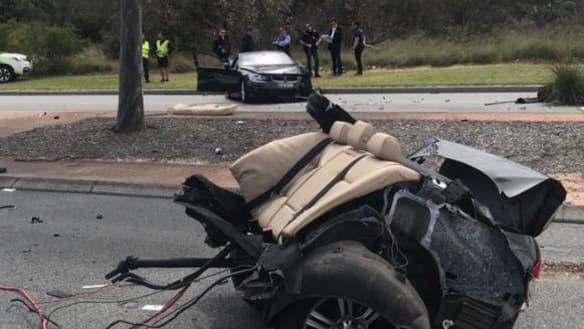 Man facing string of charges after Malaga crash left car cut in two