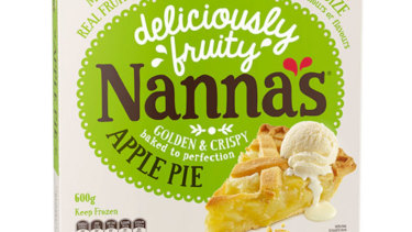 Nanna's Family Apple Pie has been recalled from supermarkets across Australia amid fears of potential glass in the item.