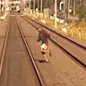 'Plain stupid': Footage shows train jumpers putting lives at risk