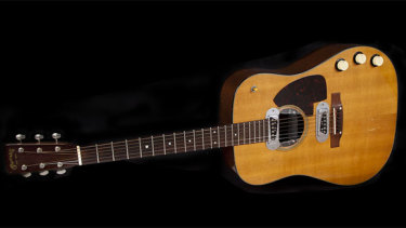 Cobain's 1959 Martin D-18E guitar, which sold for almost $9 million.