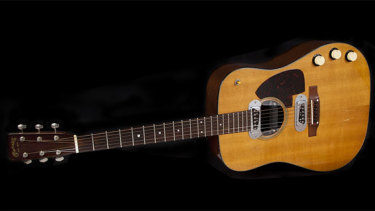 Cobain's 1959 Martin D-18E guitar is up for auction.