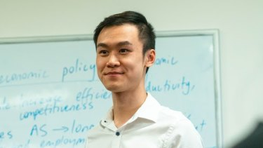 George Lin, 21, was killed by a garbage truck in Sydney's CBD in 2020.