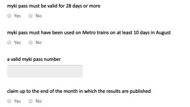 How to apply for compensation on the Metro Trains website.