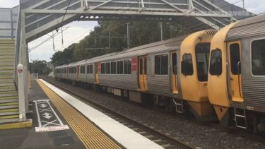 Lindum Train Station near Wynnum where a fatal accident has happened on Tuesday afternoon.