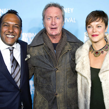 Moodley with Bryan Brown and his daughter Matilda Festival opening night last year.