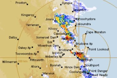 Severestormssweep across south-east Queensland on Monday afternoon.