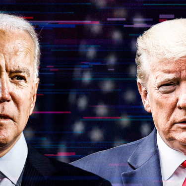 Joe Biden, left, and Donald Trump.
