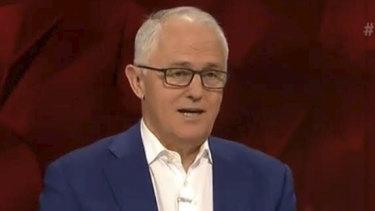 It was vintage Malcolm Turnbull for Tony Jones' last night hosting Q&A.