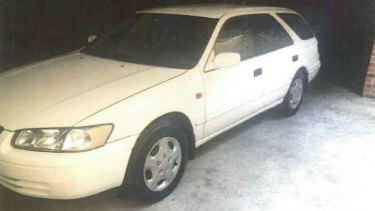 The station wagon Annabelle Bushell said looked most like the Telstra vehicle of a man who offered her a lift in 1996 before her 'instincts' told her to get out.