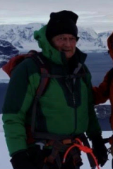 Margaret Zacharin's husband John Clifford in Antarctica.