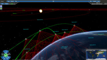 A new way of seeing low Earth orbit: a Saber Astronautics mission control interface.