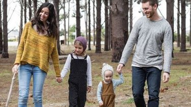 Alison and Piers McCarney with their children Violet and Hugo.