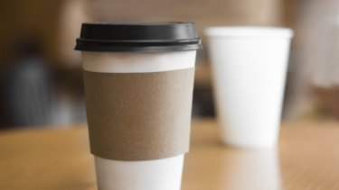 Takeaway coffee cups are usually plastic-lined and end up in landfill.