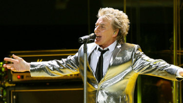 Rod Stewart at the Rod Laver in 2007.